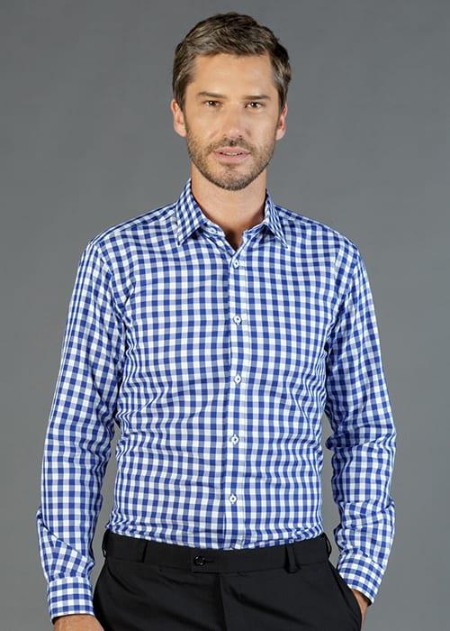 Royal Oxford Gingham Long Sleeve Shirt Mens