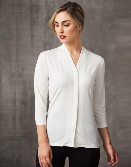 isabel shawline neck knit top