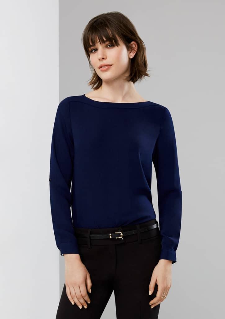 madison boat neck blouse