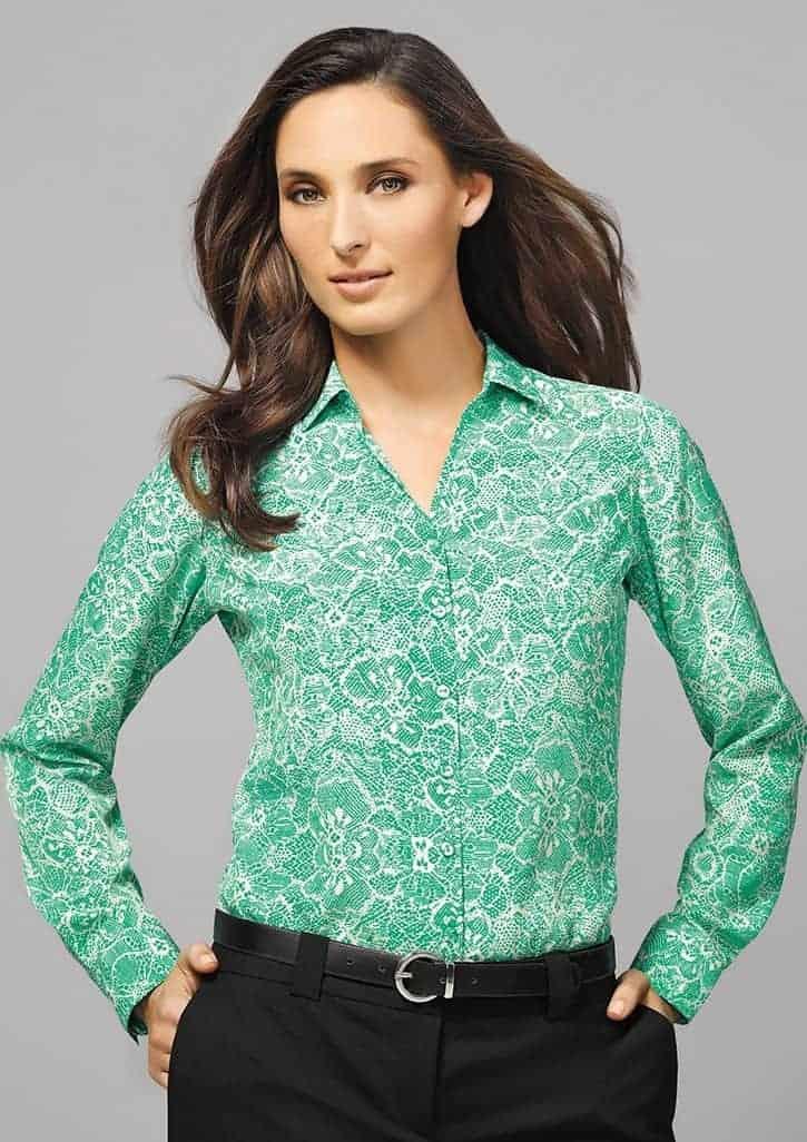 a990a371b8a Solanda Print Long Sleeve Shirt - Ladies