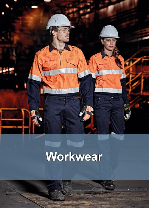 Two people in high visibility (hi-vis) workwear gear wearing other saftey and ppe items