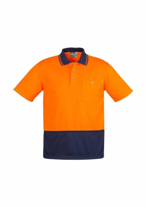 Hi Vis Basic Spliced Polo - Short Sleeve