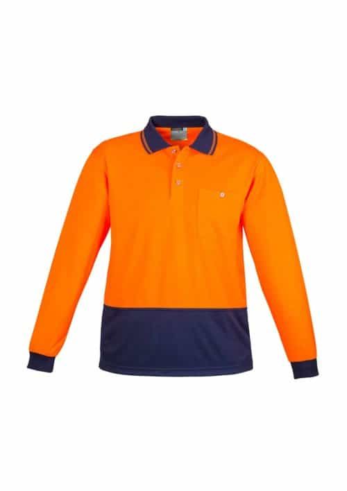 Hi Vis Basic Spliced Polo - Long Sleeve