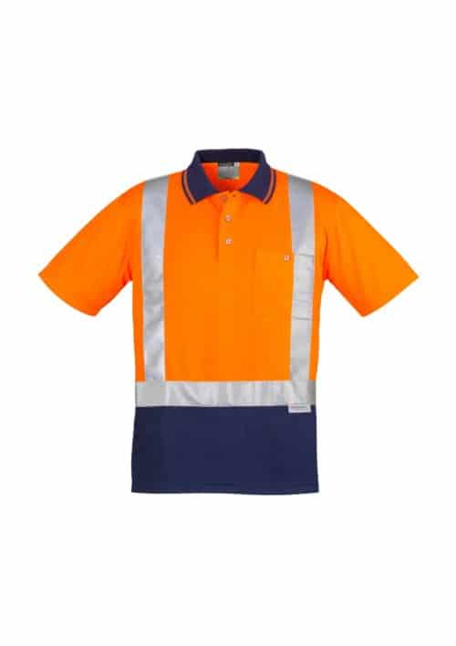Hi Vis Spliced Polo - Short Sleeve Shoulder Taped by Syzmik