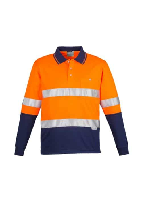 Hi Vis Spliced Polo - Long Sleeve Hoop Taped
