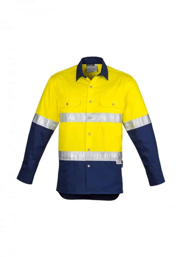 Womens Hi Vis Spliced Industrial Shirt - Hoop Taped
