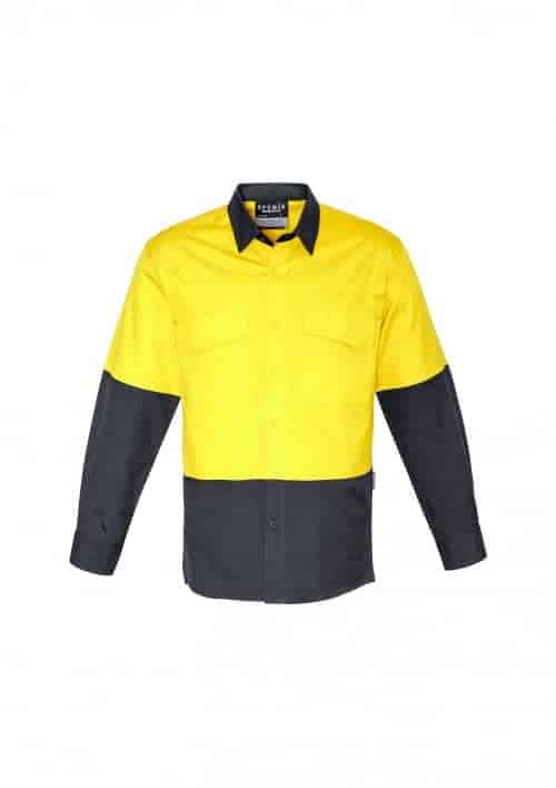 Unisex Hi Vis Spliced Rugged Shirt