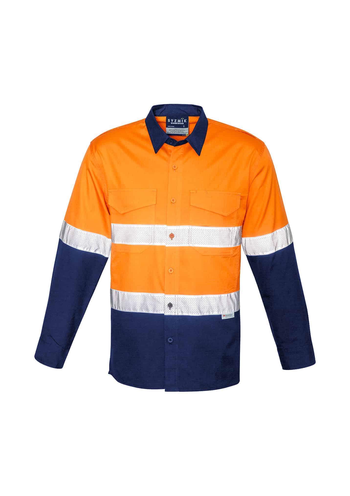 Unisex Hi Vis Spliced Rugged Shirt - Hoop Taped