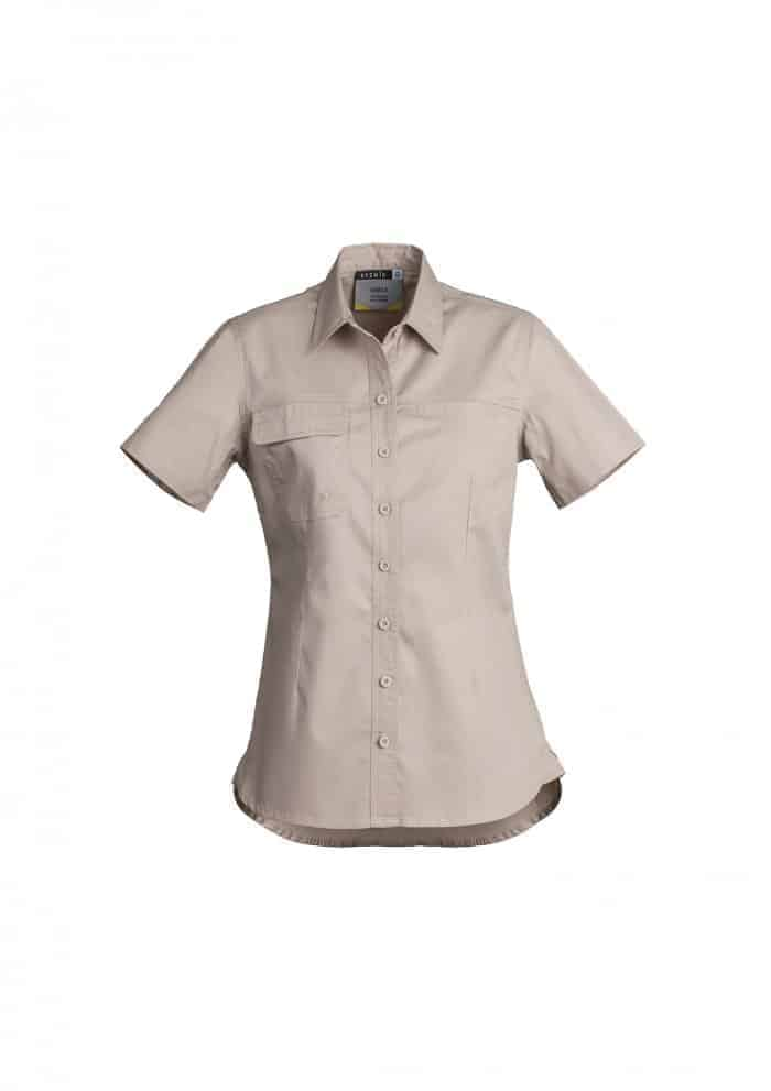 Womens Lightweight Tradie Shirt - Short Sleeve